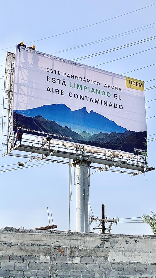 smog eating billboard